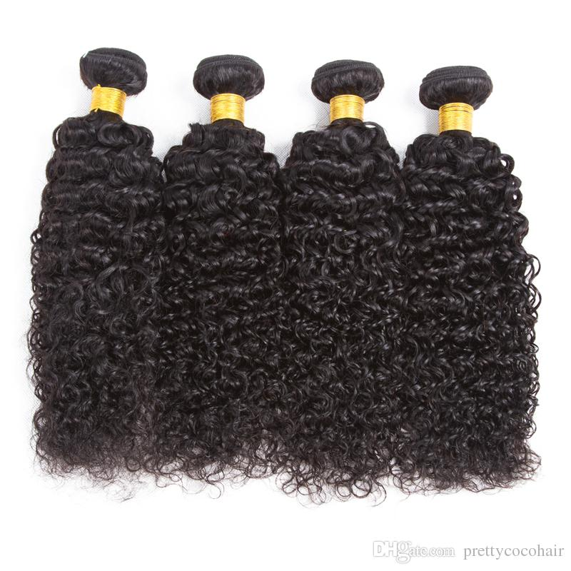 2018 8a Pretty Coco Straight Virgin Curly Weave Human Hair With