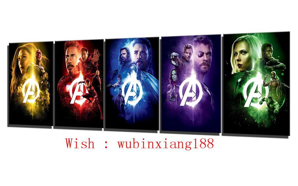 Compre Cartel De Guerra De Los Infinitos Avengers, 5 Piezas ...