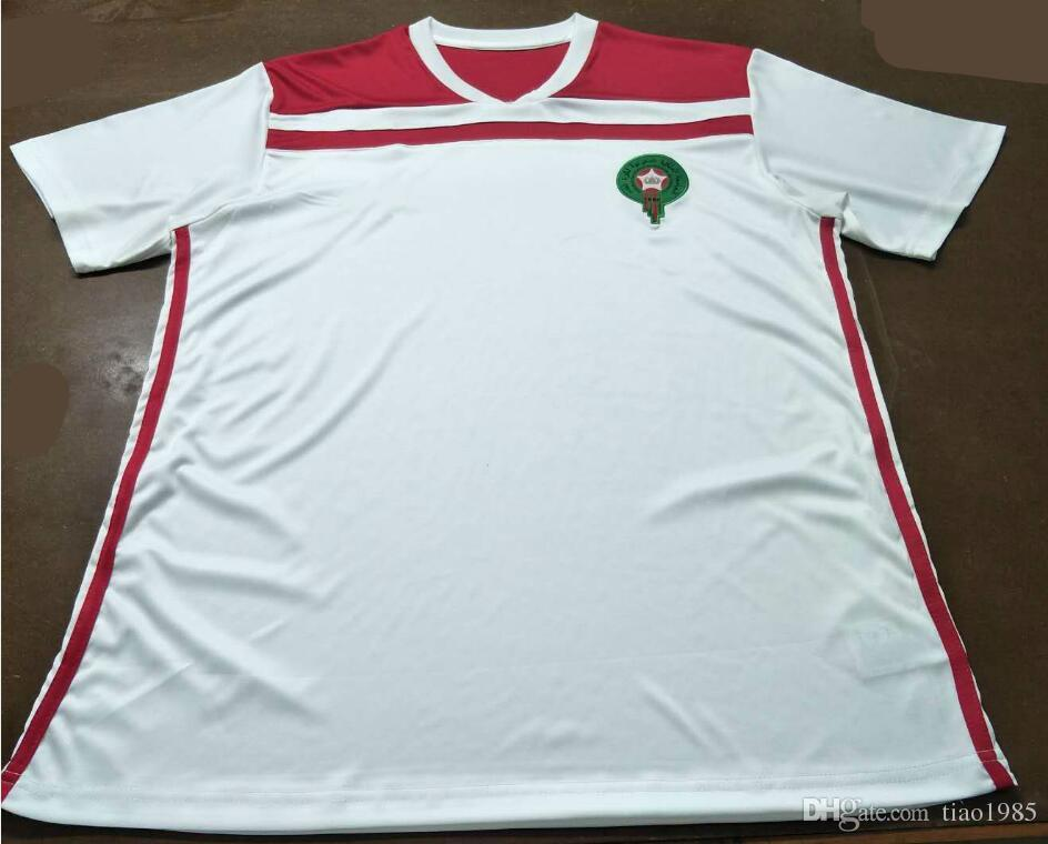25f0df847d2 Morocco 2018 home Soccer Jersey Ziyech #7 national football team home red soccer  shirt 2018 Moroccan Football uniforms sales