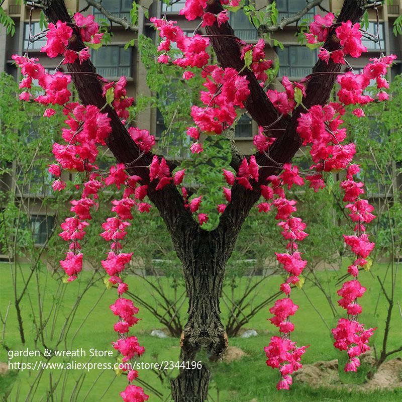 Acheter Blanc Rose Fuchsia Fleurs Artificielles Cordes Petites