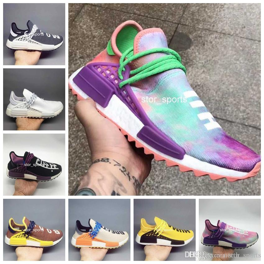8d4fe26a074b0 2018 New Human Race Pharrell Williams Hu Trail Holi Mens Women Running Shoe  High Quality Human Races Trainers Sports Sneakers Size 5 11 Cheap Shoes Men  ...