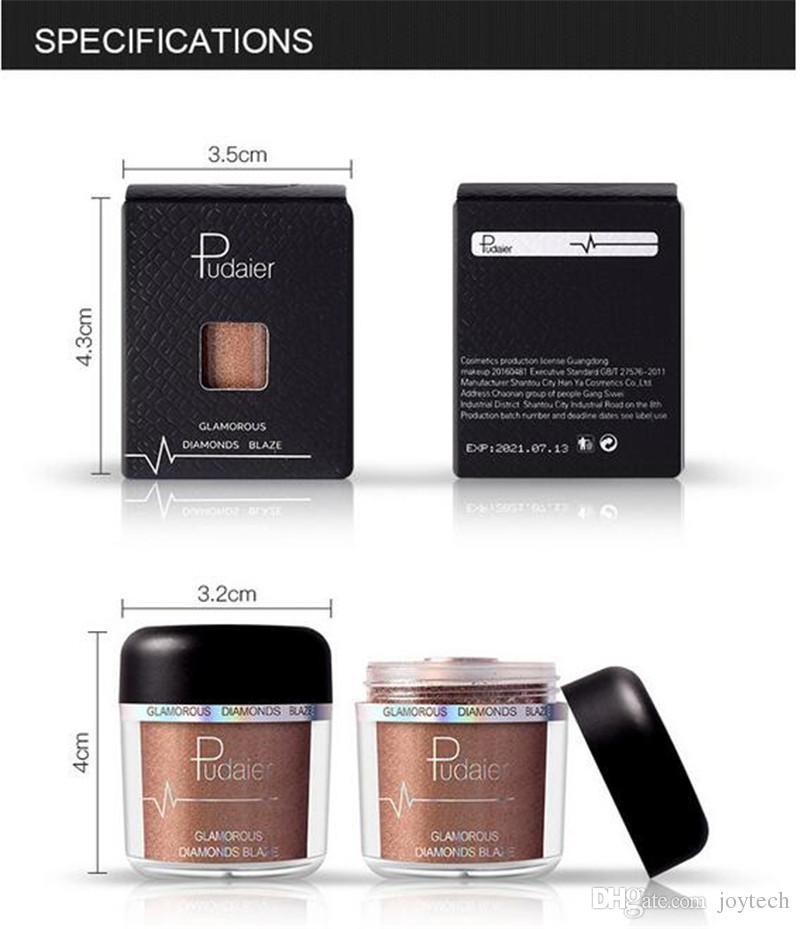 PUDAIER New metallic glitter eye shadow single waterproof eyeshadow Easy to Wear makeup matte Shimmer Eye Shadow