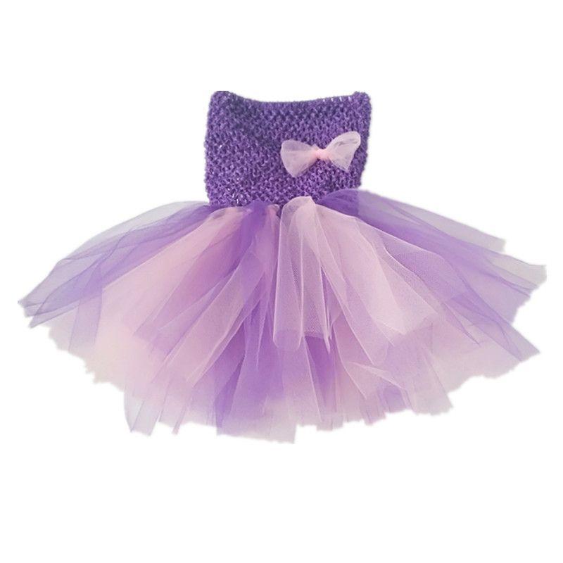 Compre Vestido Del Tutú De La Niña Púrpura Bbwowlin Para 0 1 Años De ...