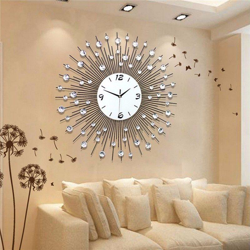 Charminer New Luxury Scenic Iron Art Metal Living Room Round Diamond