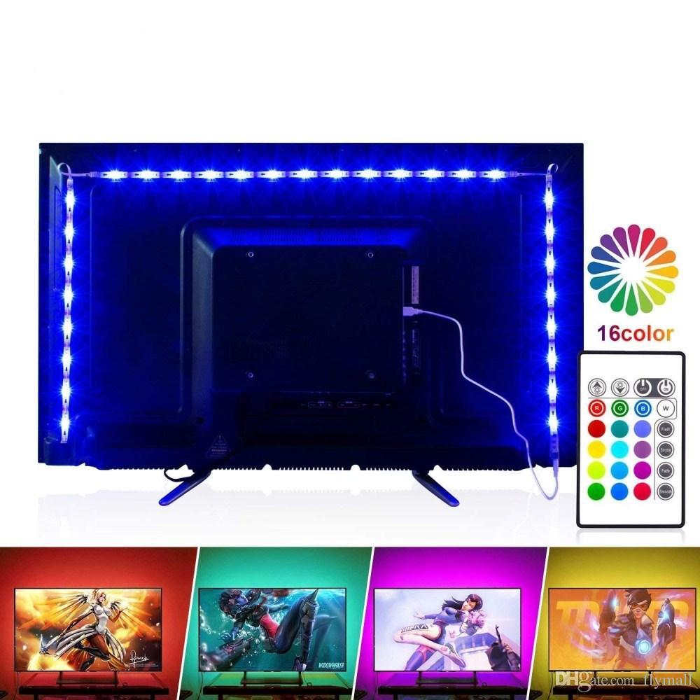LED TV Backlight 2M/6.56ft RGB Neon Accent LED Lights Strips For 40