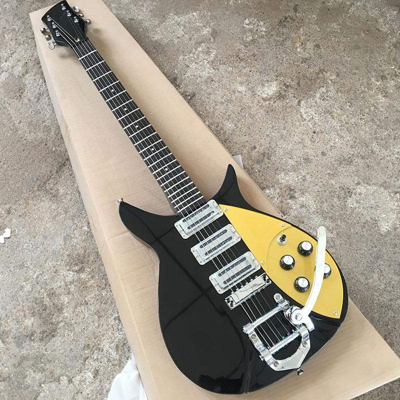 Satın Al 628mm 247inch 325 Elektro Gitar Ricken Siyah Parlak Boya