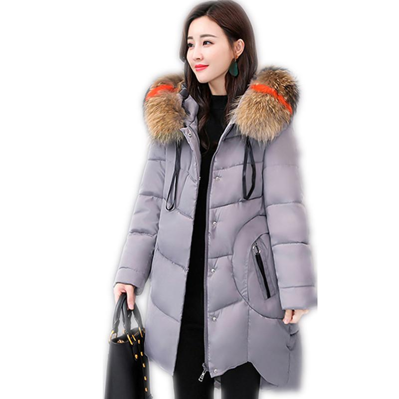 a2d63a00662 2019 Winter Women A Line Jackets Female Loose Down Jacket Hooded Colorful  Fur Collar Winter Coats Plus Size5XL Cloak Parkas2018CQ2554 From  Mingclothes001