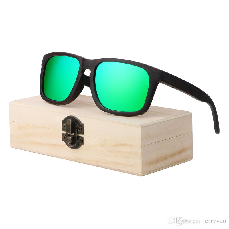 002389a7f272 Ebony Wooden Sunglasses With Polarized Lens And Fashion Design ...