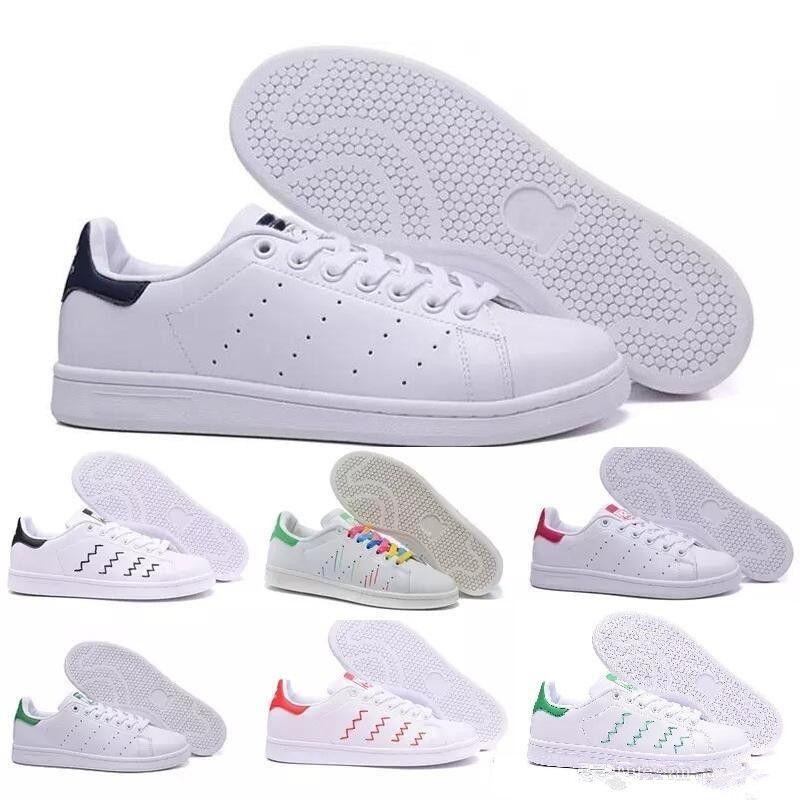 buy online 9cb80 bbafa Compre Adidas Stan Smith 2018 Raf Simons Stan Smith Cobre Blanco Rosa Negro  Moda Zapato Hombre Casual Cuero Diseñador Marca Mujer Hombre Zapatos Pisos  ...