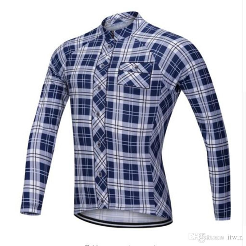 Long Sleeve Men S Cycling Jersey Quick Dry Pro Bike Team MTB Bicycle Cycle  Clothing Maillot Ciclismo Sports Shirts Zipper Custom Bike Jerseys Mountain  Bike ... d857a1e6d
