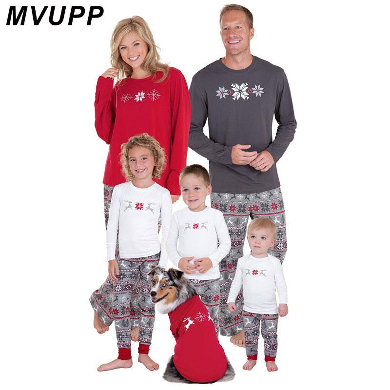 12d8046cd Family Matching Christmas Pajamas Set Women Baby Kids Sleepwear ...