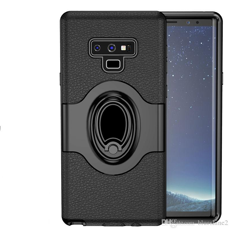 quality design 911f1 4caa0 For Samsung Galaxy Note 9 Case Shockproof Ring Bracket Holder Combo  Silicone Cover Case For Samsung Note 9 Note9 capa
