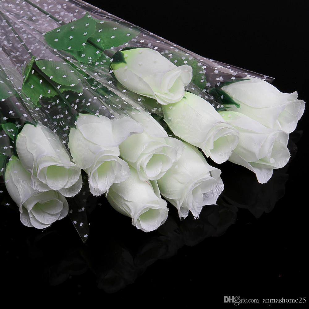2018 Hot Sale Fresh White Rose Artificial Flowers Real Touch
