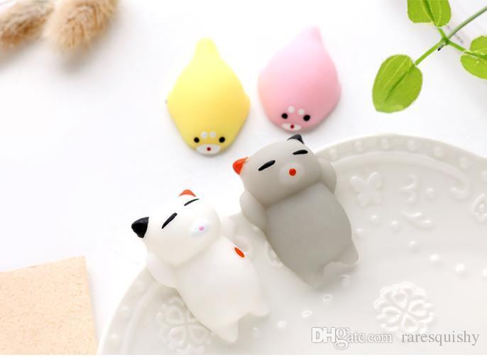 3 cm Squishy Slow Rising Jumbo Juguete Bun Toys Animales Cute Kawaii Squeeze Cartoon Toys Mini Squishies Cat Squishiy Rare Animal Regalos Encantos