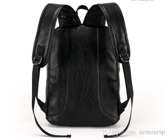2018 hot High Capacity Quality Men Business Mochilas Moda High Grade Leather Designer Men's Schoolbag Travel Laptop Bag