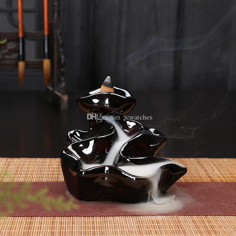 24 Stil Seramik Brülör Fragrance Lotus Tutucu censer Yaratıcı Aromaterapi Backflow Tütsü Koniler Brülör Çubuk Tütsü buhurluk