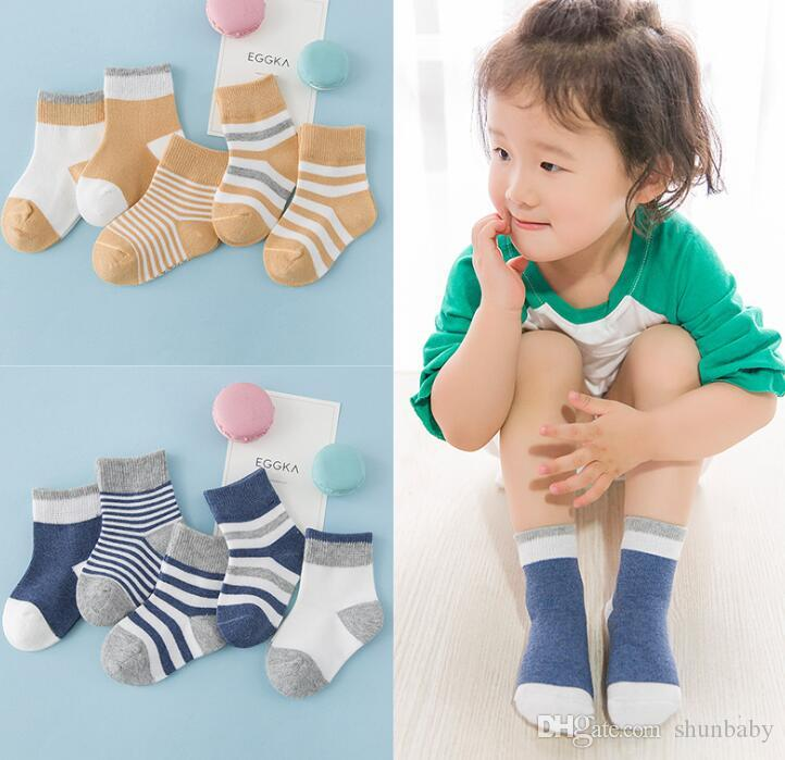 1-3 Year Baby Socks Cotton Glitter Solid Girl Socks Boy Infant Knee High Socks
