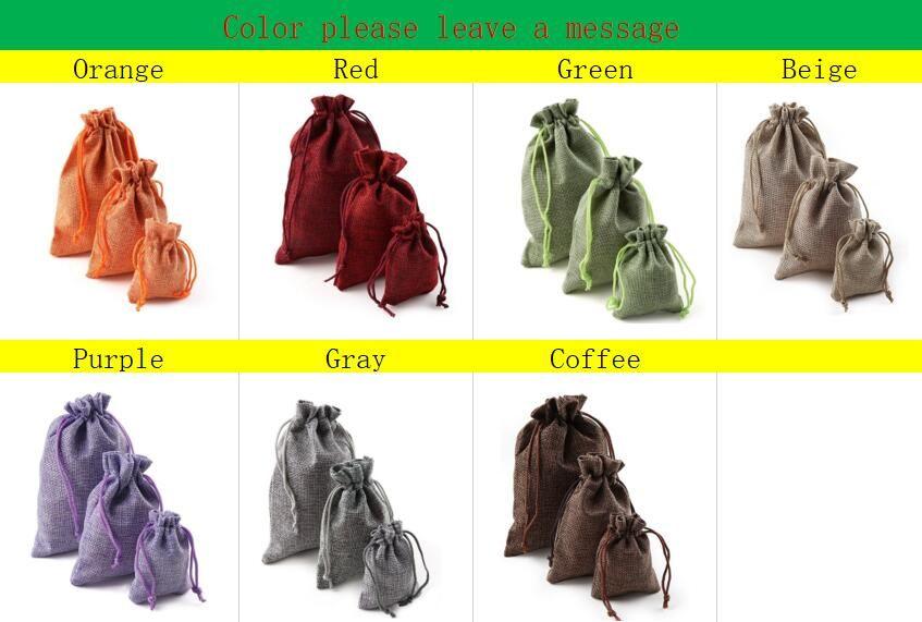 Christmas Linen Jute Drawstring Gift Bags Sacks Wedding Birthday Party Favors Drawstring Gift Bags Baby Shower Supplies /bag