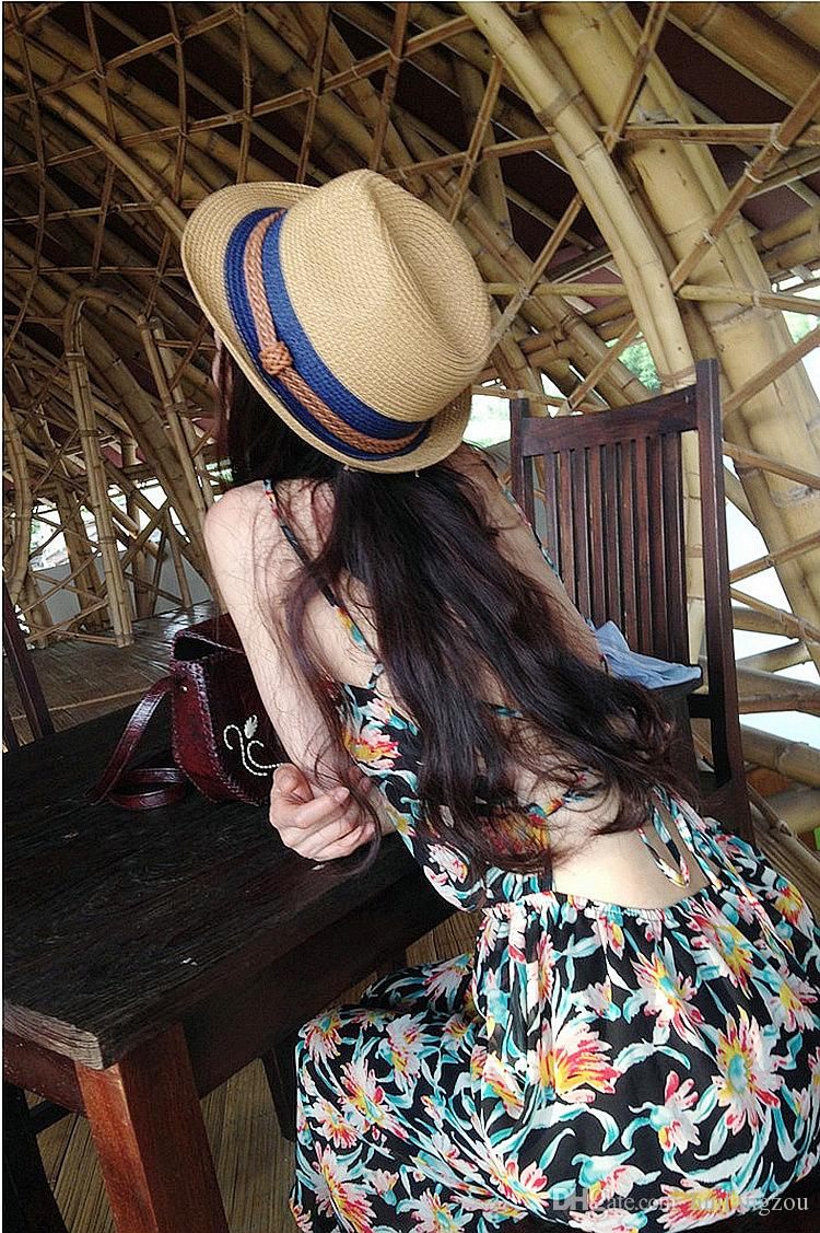 Summer Beach Sun Protection Hats 2018 Women Outdoor Casual Designer Hats High Quality Straw Hat With