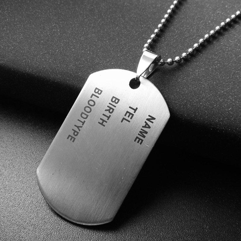 b8307c7874429 Wholesale Military Army Style Stainless Steel Polished Dog Tag Charm  Pendant Bead Chain Necklace Mes Fine Jewelry
