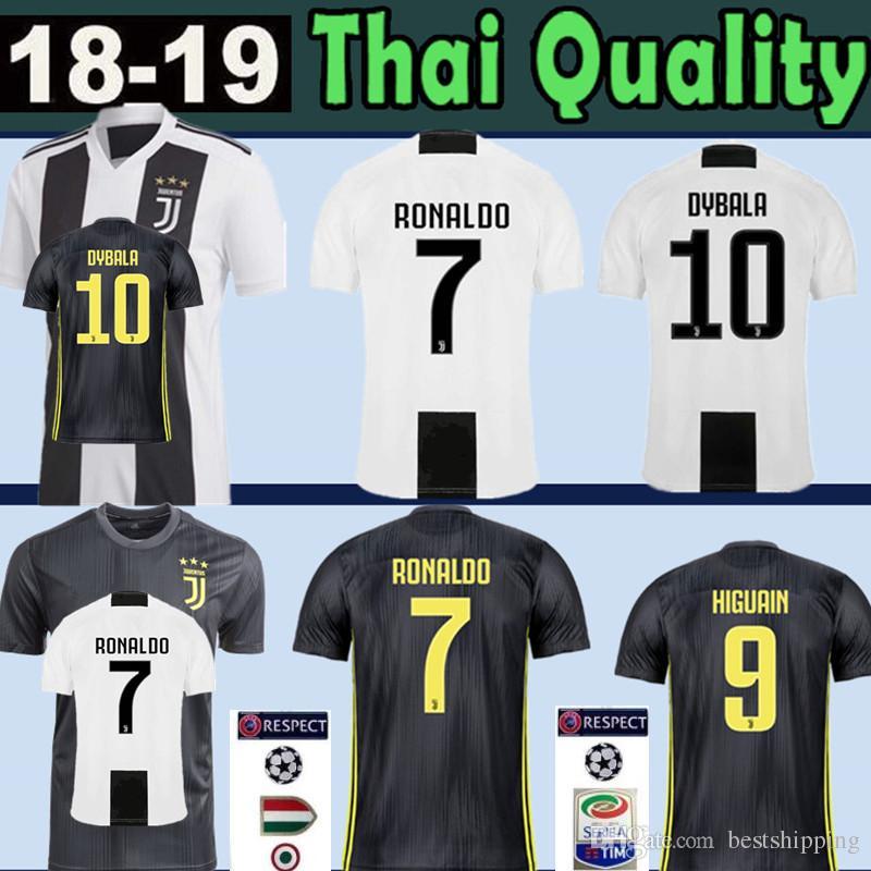 084e50303 2019 Juventus RONALDO  7 Soccer Jersey 2018 2019 HIGUAIN 9 DYBALA 10  Mandzukic 17 Bernardeschi 33 D. Costa 11 WOMEN Man Kids Kits Football Shirt  From ...