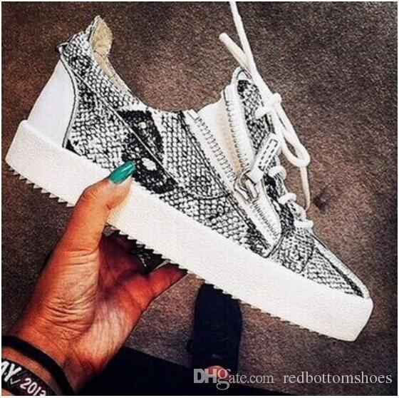 Designer italiano marca zanoty homens sapatos casuais marca new mulheres cor branca com decoração de Metal Duplo zipper GZ35 low cut sneakers
