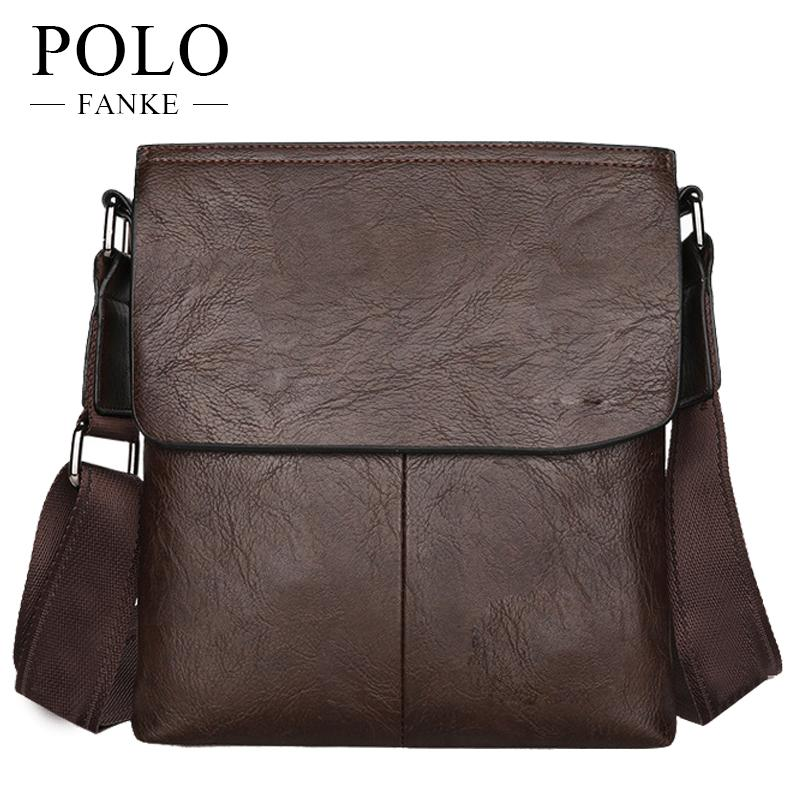 6c0dcb83f656 FANKE POLO 2017 New Leather Men Messenger Bags British Style Fashion Travel  Bags All Match Shoulder Bag Casual Office FM170877 Leather Tote Leather Tote  ...