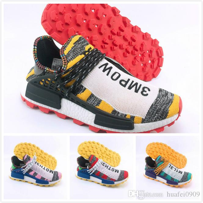 more photos a1fa0 6481a BBC Free shipping 2018 Human Race Being HU HUMAN RACE SPIECES Pharrell  Williams X Running Shoes Sneaker Casual Shoes Real size us 5-12