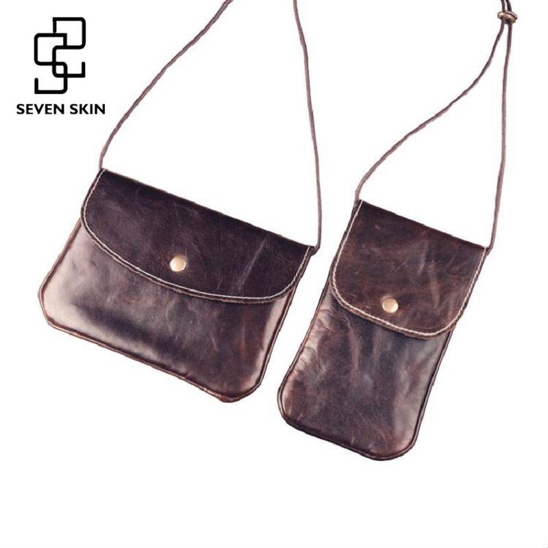 725eaec9e02a Seven Skin Women Genuine Leather Bags Female Small Shoulder Bags Vintage  Envelope Messenger Bag Mini Women Clutch Crossbody Bag Women Leather Bags  Female ...