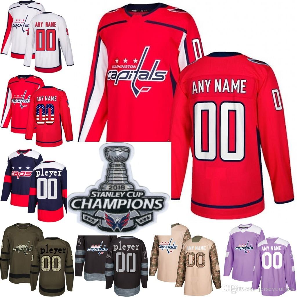 classic fit b212a 47009 2018 Customized Men s Washington Capitals custom Any Name Any Number Ice  Hockey Jersey,Authentic Jersey 8 Alex Ovechkin size S-3XL
