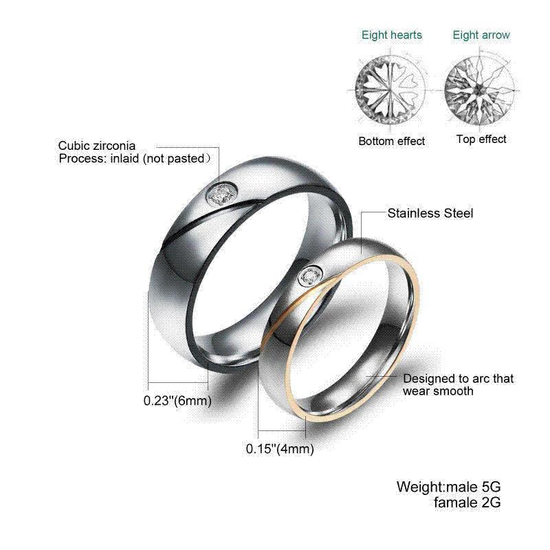 Grosshandel Paar Ringe Gravieren Name Hochzeit Ringe Fur Frauen