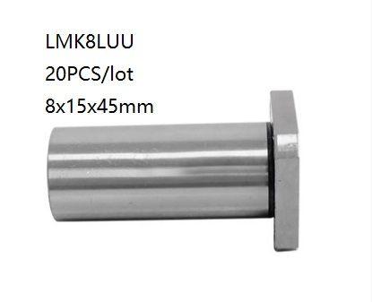 lang 12mm Flanschlager LMK12LUU Linearlager CNC 3D Drucker Linear Bearing