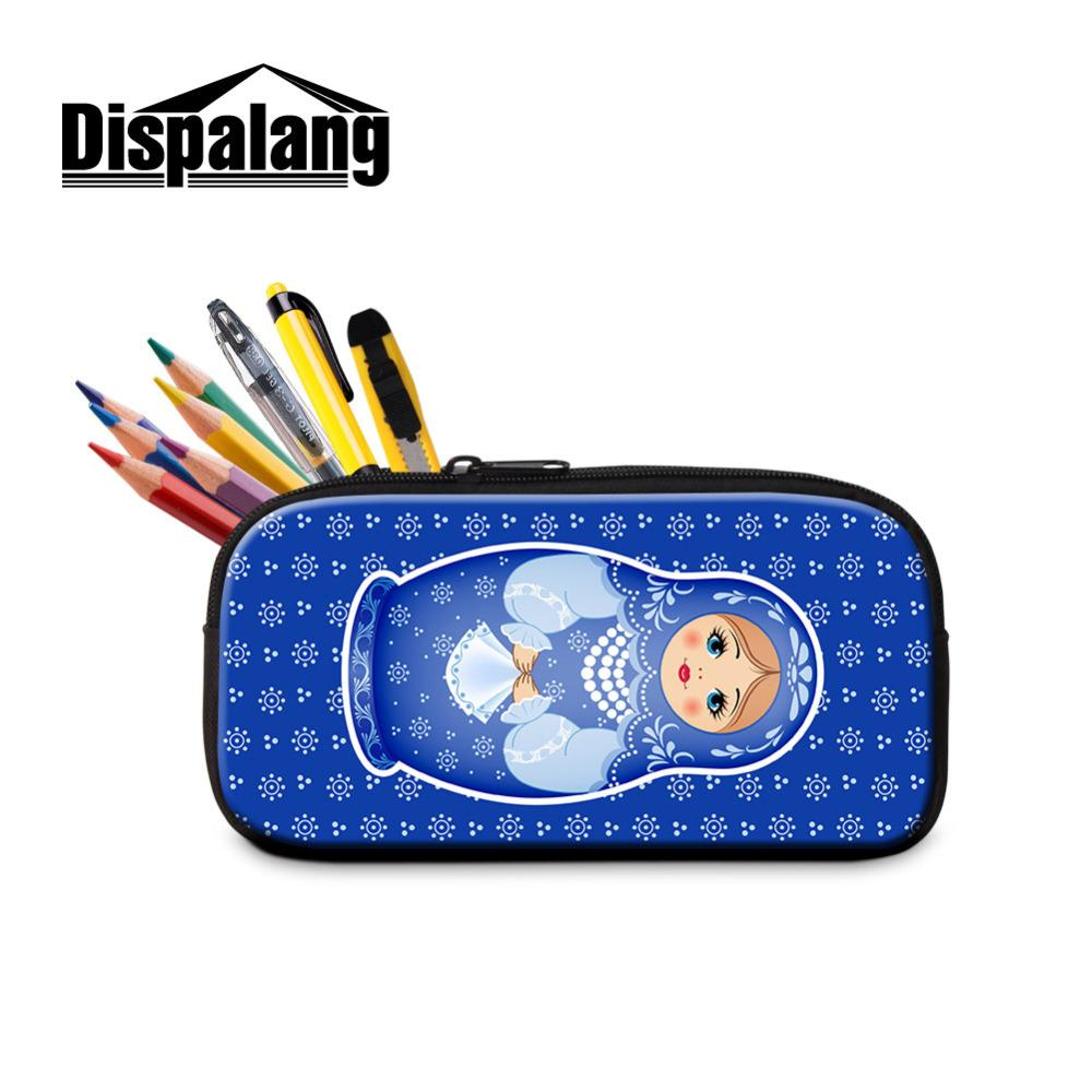 Dispalang Matryoshka Women Makeup Cosmetic Bag Kids Pencil Case School  Supplies Stationery Russian Doll Pencil Box Pen Bags