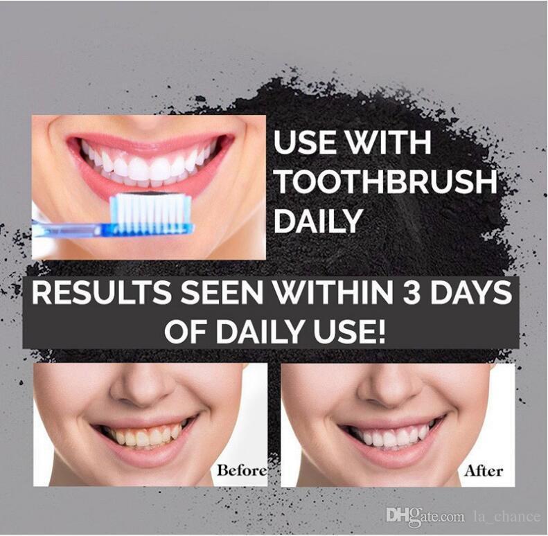 Nuovi Denti uso alimentare Polvere di bambù dentifricio Cura orale Igiene Pulizia naturale attivato carbone organico noce di cocco dente giallo macchia