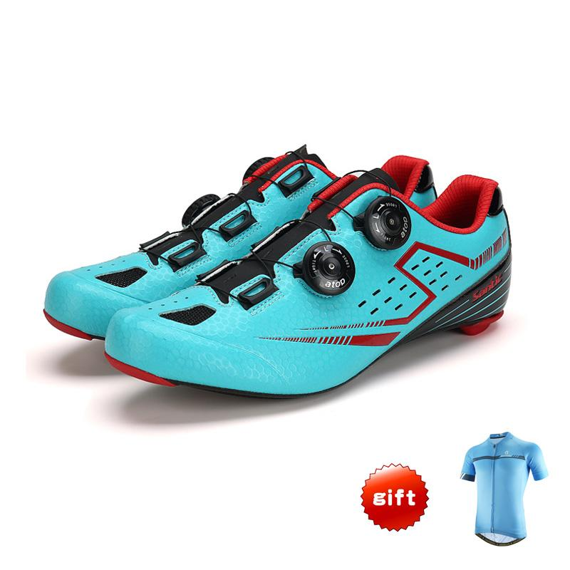 d24407e3c7c 2019 SANTIC Carbon Fiber Road Cycling Shoes Mens Outdoor Sport Bike Bicycle  Sneaker Selflocking Road Bike Shoes Gift Cycling Jersey From Hcaihong