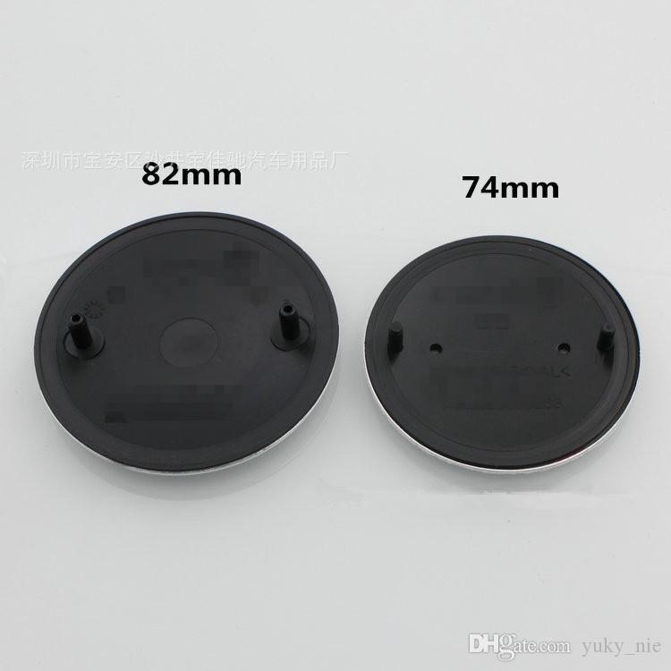 Black Background Blue White 82mm 74mm Car Emblem Badge Hood Front Trunk Logo With Lable bag Hight Quality!!!#51148132375