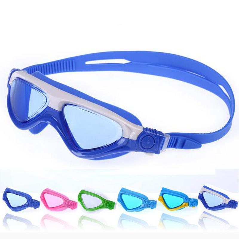 28947a776618 2019 Kids Child Patchwork Swimming Goggles Swim Pool Waterproof Glasses  Anti Fog Water Eyewear Swimwear W  Hard Case   Earplugs From Jianpin