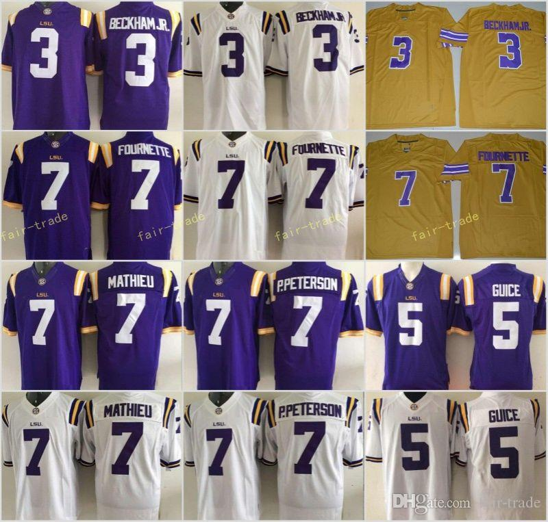 separation shoes 18e8e 181af authentic lsu tigers 7 tyrann mathieu white fighting jersey ...