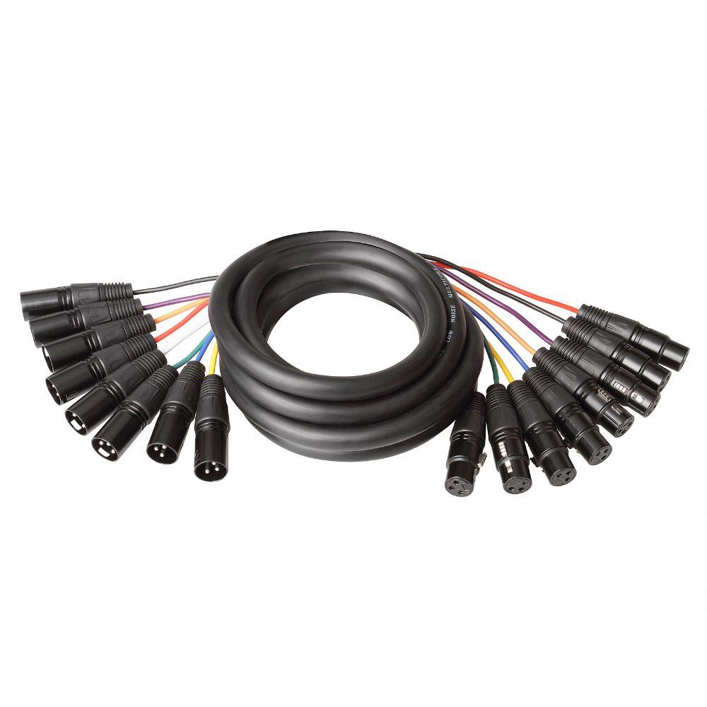 tsss 8 in 1 snake cable kit colored 2m xlr3m to xlr3f dmx light rh dhgate com