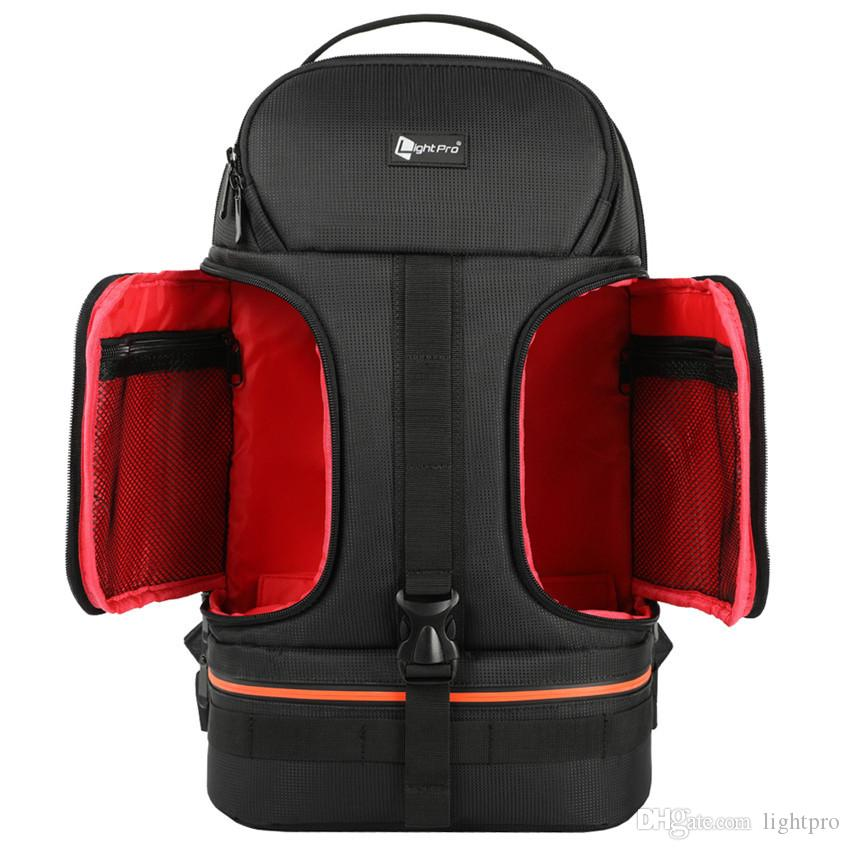 2019 DSLR Waterproof Shockproof Shoulders Camera Backpack Tripod Case W   Reflector Line Fit 14in Laptop Bag For Canon Nikon Sony SLR From Lightpro 8e808e2a521de