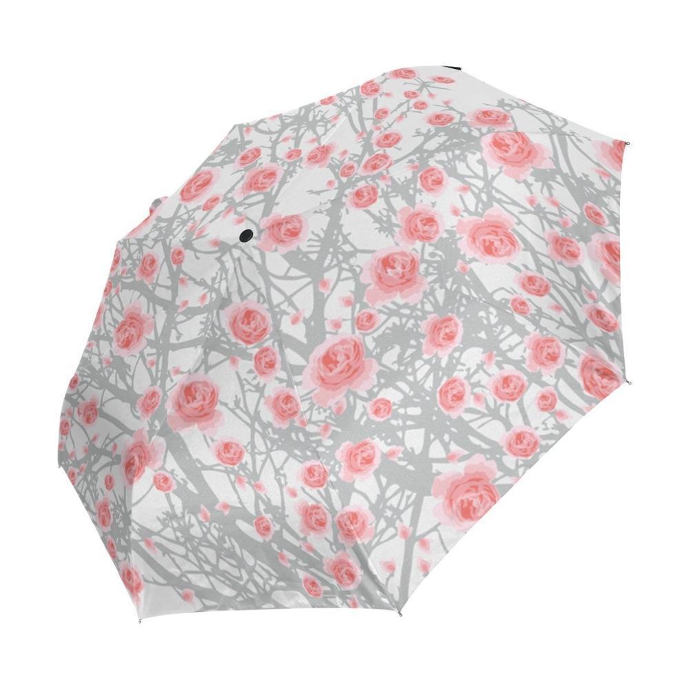 Satın Al Boyama Yağmur şemsiye çizim Sanat Gül Desen şemsiye çiçek