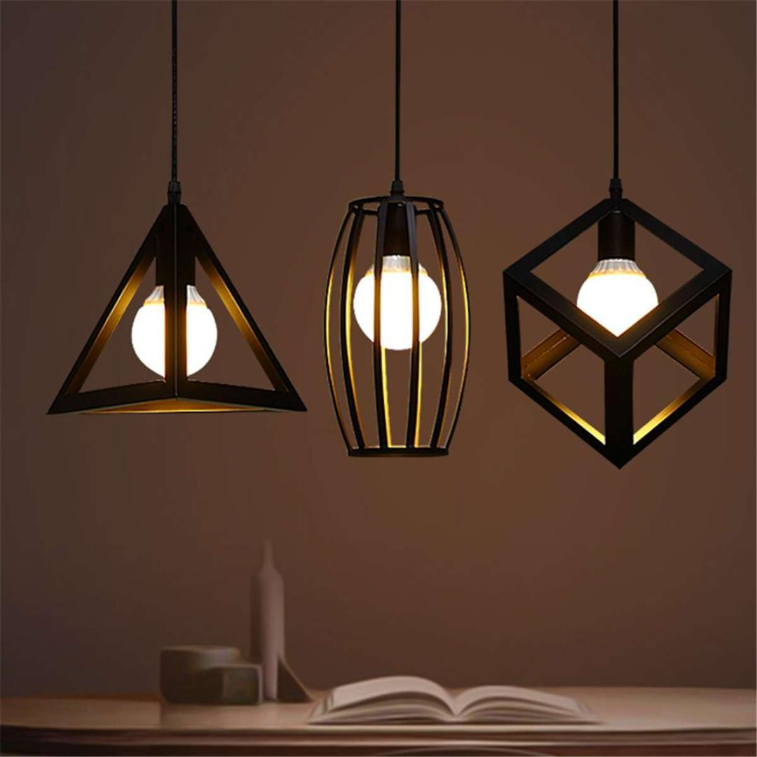 Vintage industrial pendant light night lamp e27 kitchen bar cafe restaurant decoration fixture indoor lighting black 4 types modern pendant light fixtures