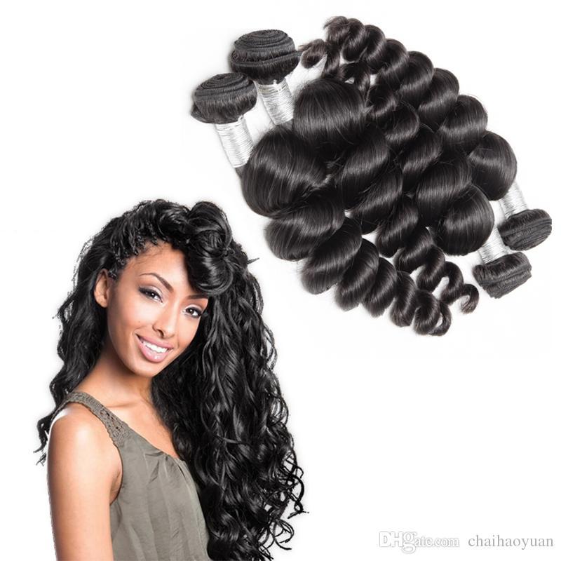 Fashionable Brazilian Hair Weave 4 Bundles Loose Wave Human Hair