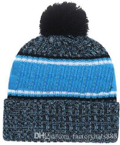2019 Autumn Winter Hat Sports Hats Custom Knitted Cap With Team Logo  Sideline Cold Weather Knit Hat Soft Warm Panthers Beanie Skull Cap Crazy  Hats Mens ... c6279718aa4