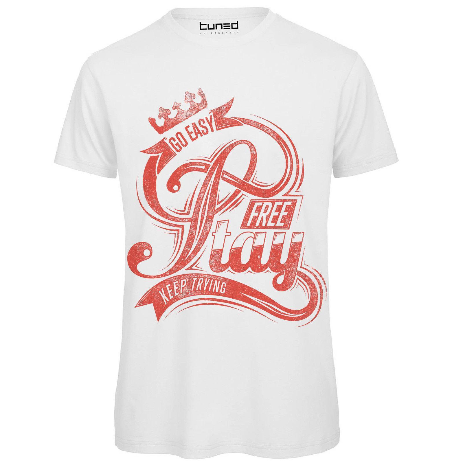 b3860e6b1e T-shirt Divertente Uomo Maglietta Cotone Con Stampa Frase Ironica Go Easy  Tuned Tops Maglietta Homme Top Tee