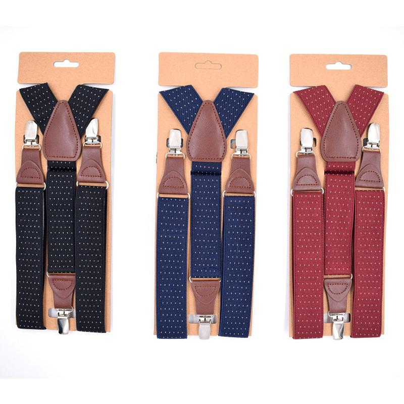 64ce62327a3f1 2019 Men s Suspenders 3Clips Leather Braces Adult Suspensorio ...