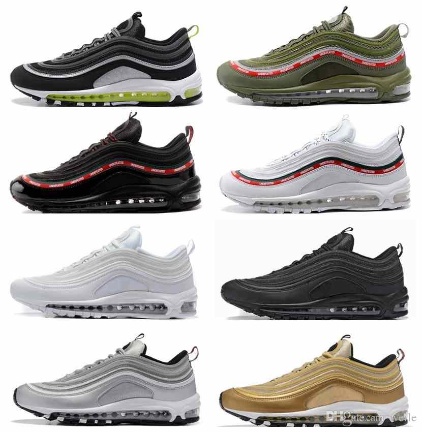 00cb2ef47ec 2018 Drop Shipping 97 OG Bullet Running Shoes For Men Tripel White ...