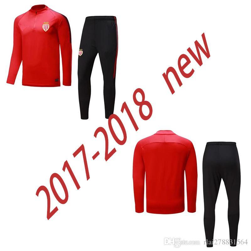 Compre 2017 2018 Nuevo Monaco S 3xl Trajes De Entrenamiento De Fútbol  Uniformes Camisas Fútbol Camiseta De Futbol Invierno Fabinho Survetement  Chándales De ... b4110ac5b1ce2