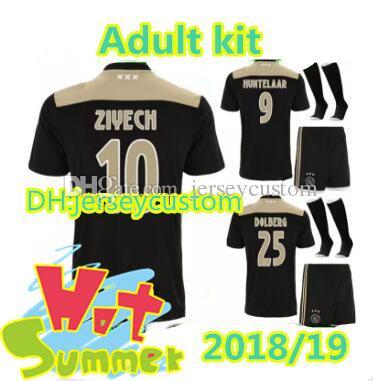 8a8e03dcb49 2019 Ajax Soccer Jersey 18/19 Ajax FC ADULT Kit Jerseys Away KITS 2018 2019  Customized KLAASSEN NOURI Ajax Football Jersey Uniform FULL SET WITH From  ...
