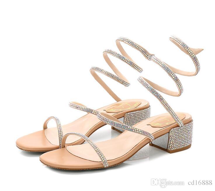 cec050f6c28 Most Popular 2018 New Summer Women Sandals Fashion Shoes Rhinestone Sandals  Korean Thick With Open Toe Sexy Shoes Woimen Sandals Mens Sandals Reef  Sandals ...